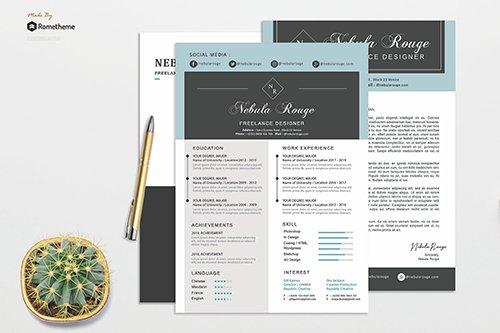 PSD Resume - Nebula Rouge