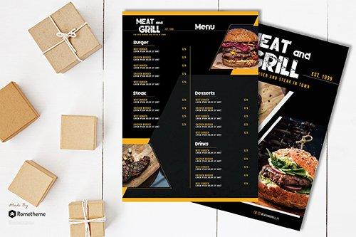 GRILL - Burger Menu Template