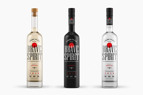 Liquor Bottle Mock-Up Template