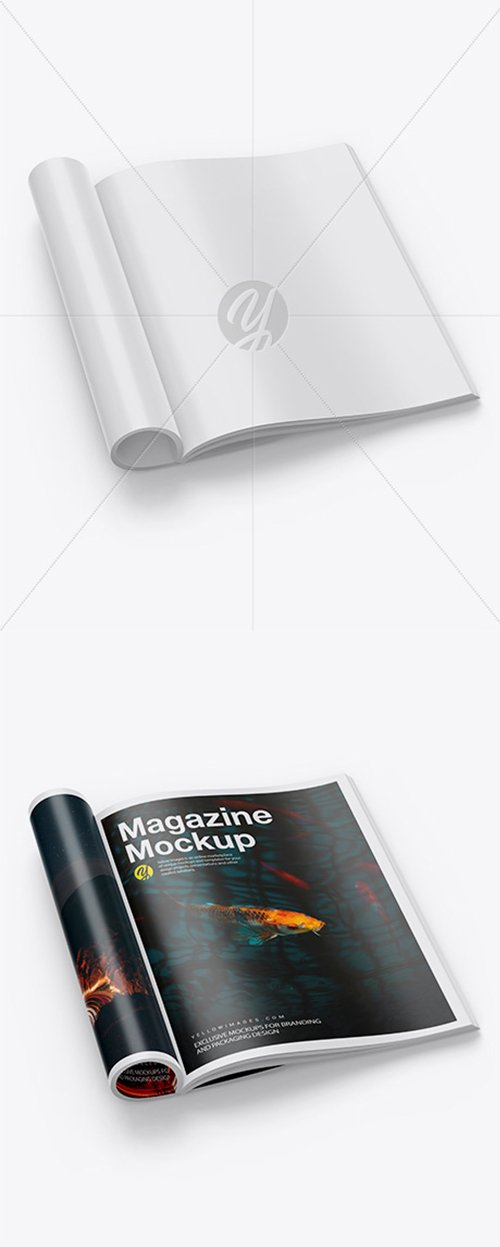 Glossy A4 Magazine Mockup 42466 TIF