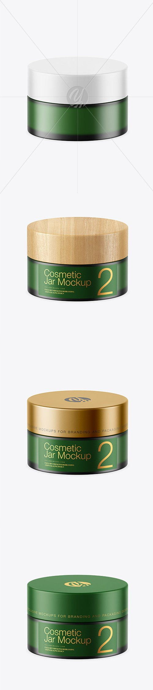 Frosted Green Glass Cosmetic Jar Mockup 45167 TIF