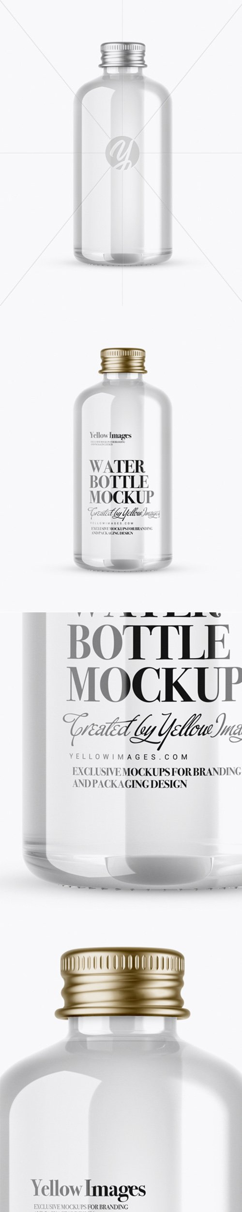 Clear Glass Water Bottle Mockup 21006 TIF