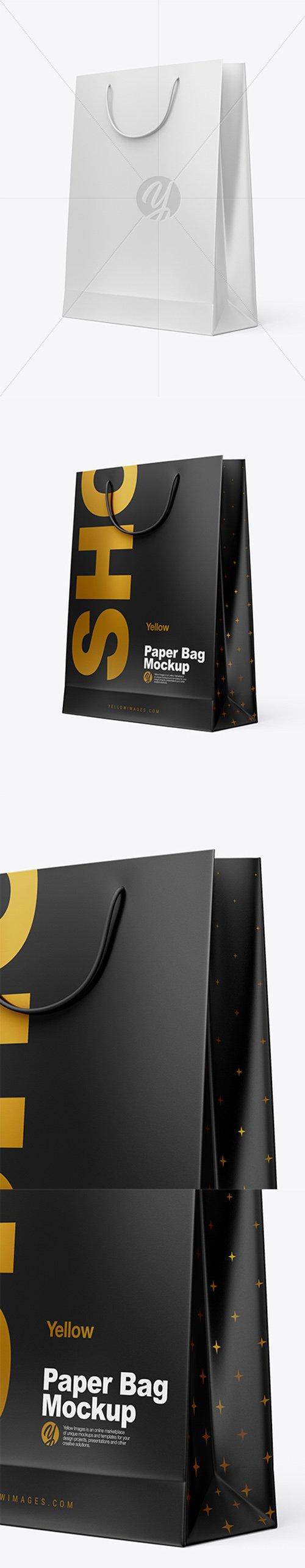 Matte Paper Shopping Bag Mockup - Half Side View 29279 TIF