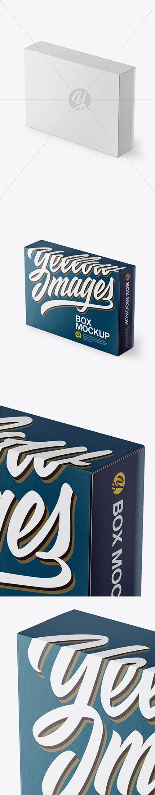 Box Mockup - Half Side View (High Angle Shot) 22357 TIF