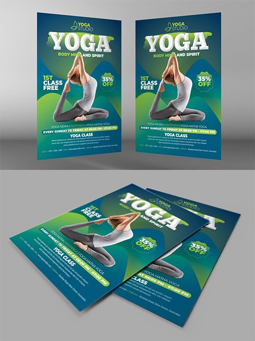 Yoga Flyer PSD Templates