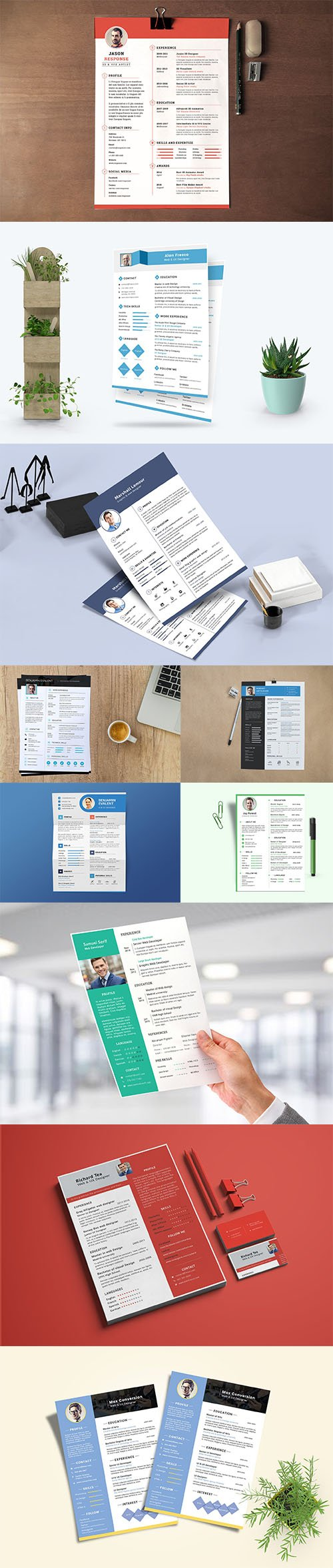 Resume / CV Template PSD Set vol3