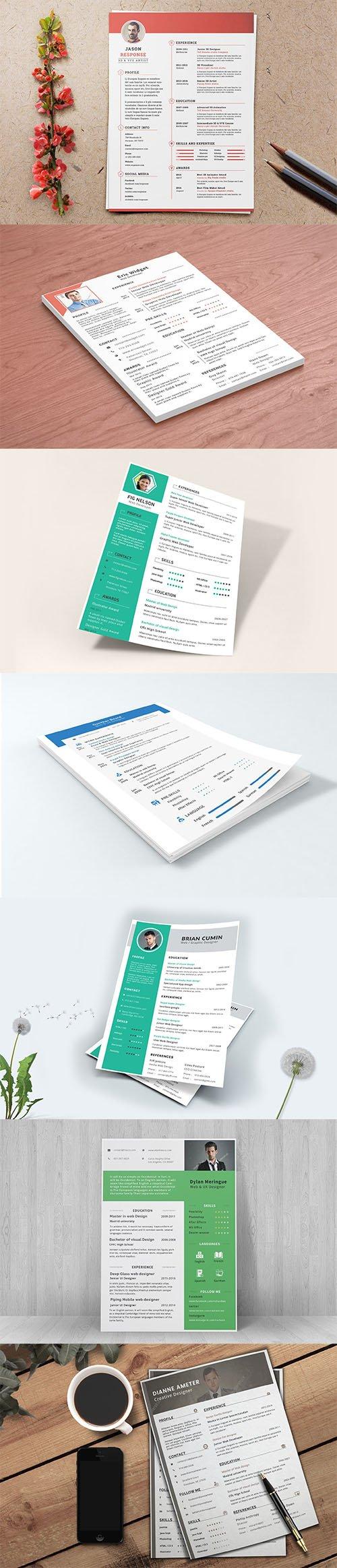 Resume / CV Template PSD Set vol2