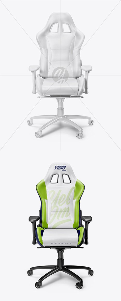 Awesome Gaming Chair Mockup Front View 27451 Tif Nitrogfx Alphanode Cool Chair Designs And Ideas Alphanodeonline