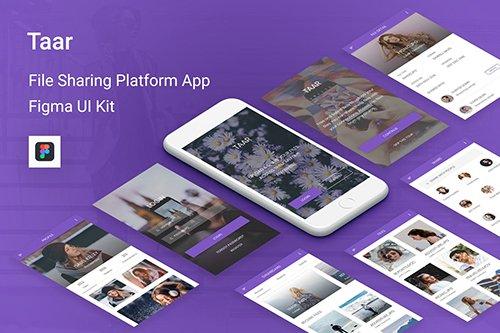 Taar - File Sharing Platform UI Kit for Figma