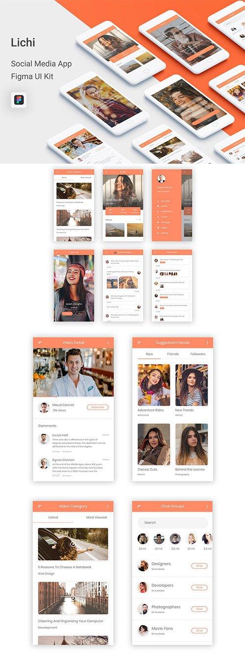 Lichi - Social Media UI Kit for Figma