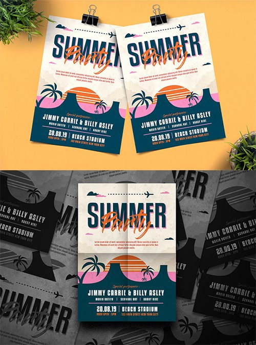 Summer Party PSD and AI Flyer