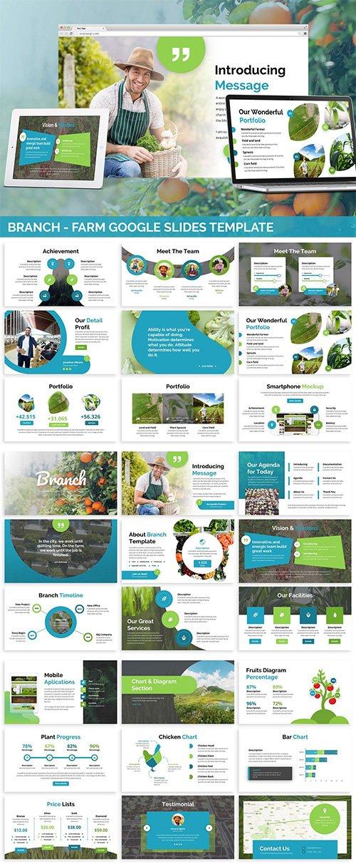 Branch - Farm Theme Google Slides PPTX Template