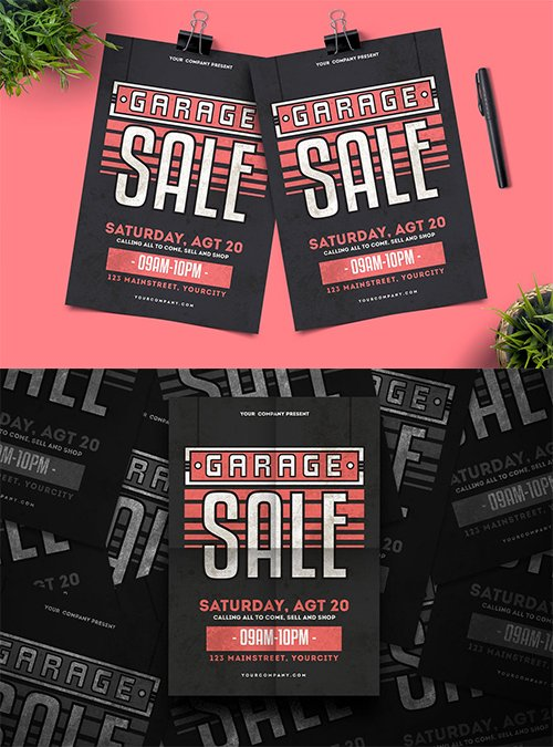 Garage Sale PSD and AI Flyer