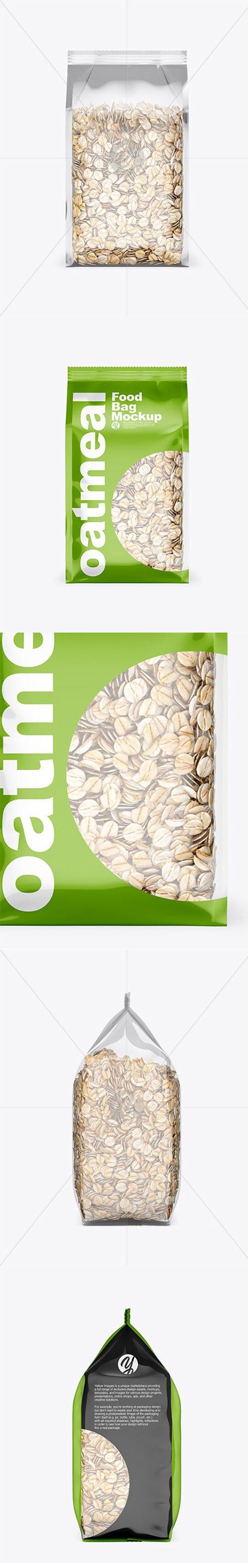 Food Bag w/ Oatmeal Mockup 45419 TIF