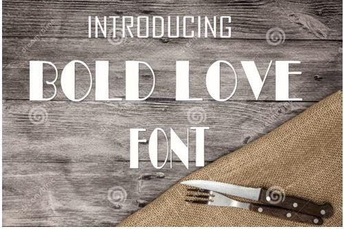 Bold Love Font