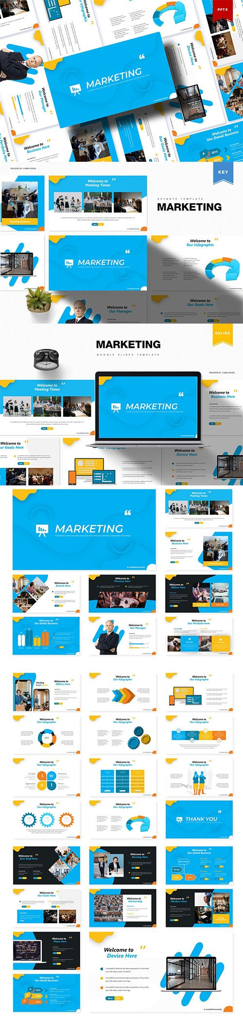 Marketing - Powerpoint, Keynote and Google Slides Templates