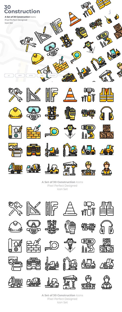 30 Construction Icons