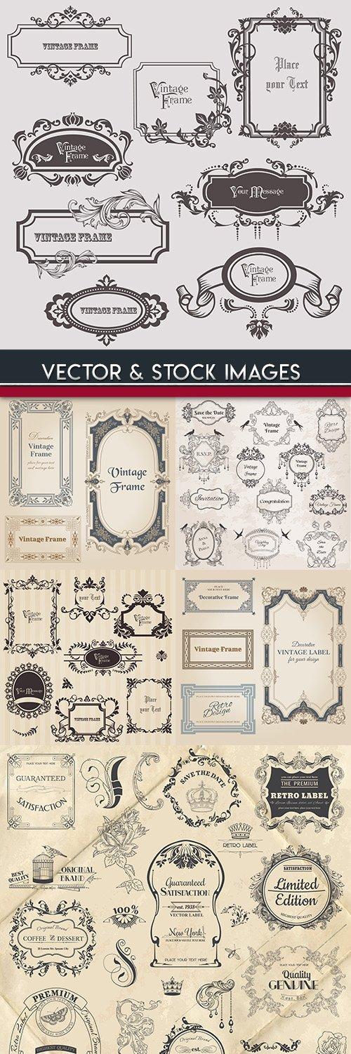 Wedding decorative frame vintage elegant design