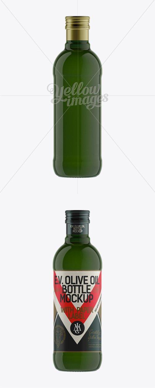 500ml Green Glass Olive Oil Bottle Mockup 11984 TIF