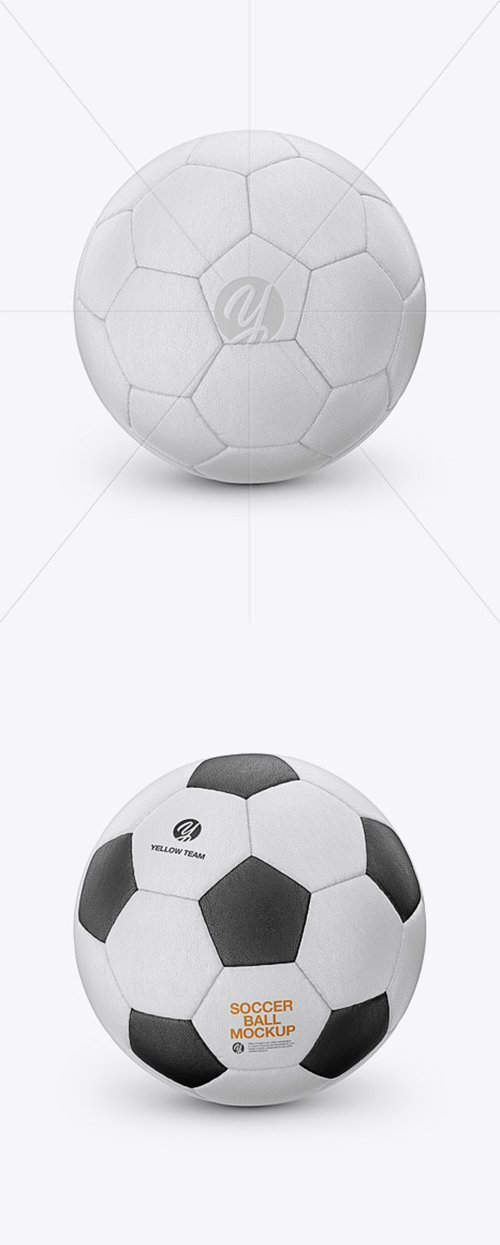Leather Soccer Ball Mockup 39209