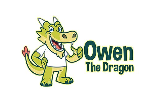 Cartoon Dragon Mascot Vector Logo