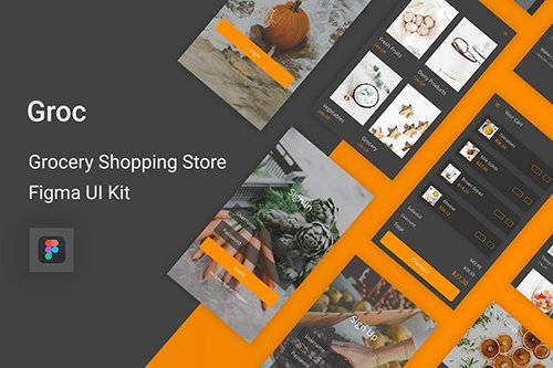 Groc - Grocery Shopping Store Figma UI Kit
