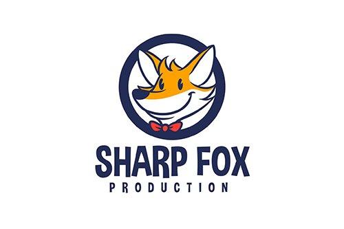 Cartoon Fox Emblem Mascot Vector Logo