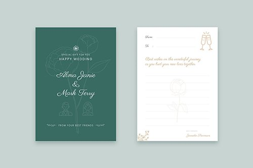 Wedding Gift PSD and Vector Cards