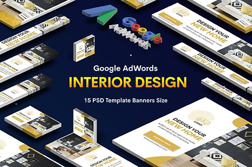 Interior Design PSD Banners Ad