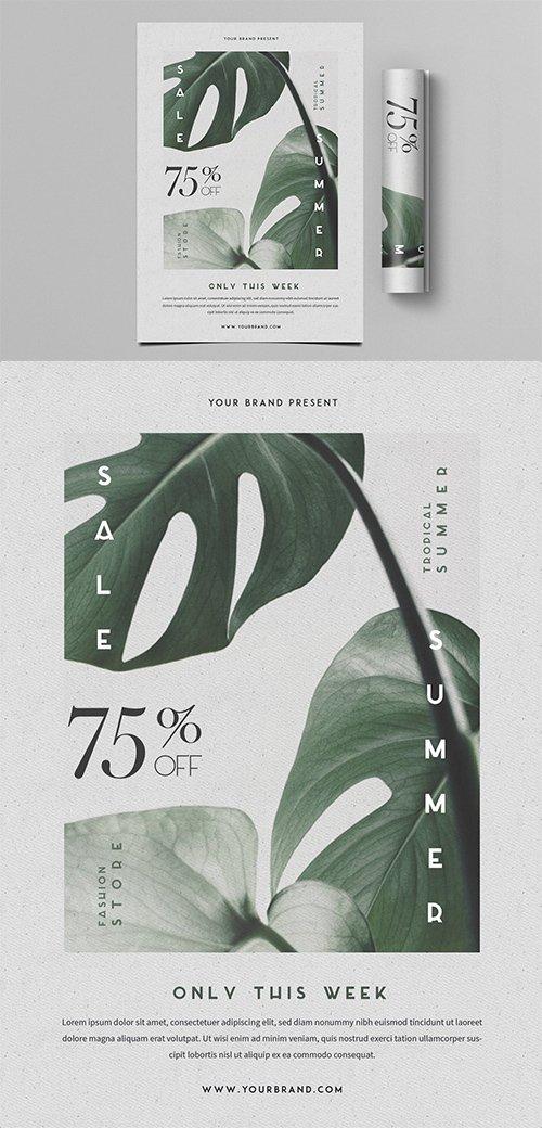 Summer Sale PSD Flyer
