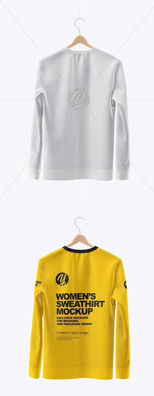 Sweatshirt on Hanger Mockup - Back View 45386 TIF