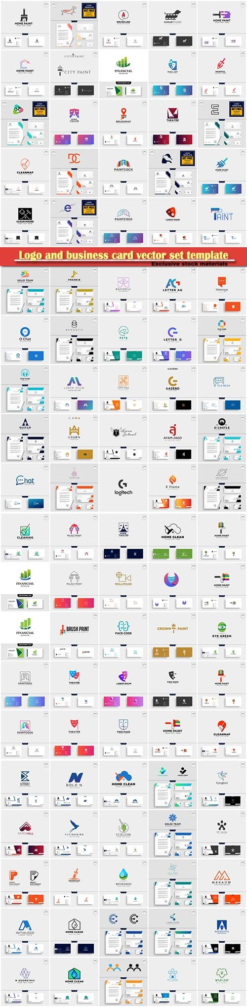 Logo and business card vector set template # 2
