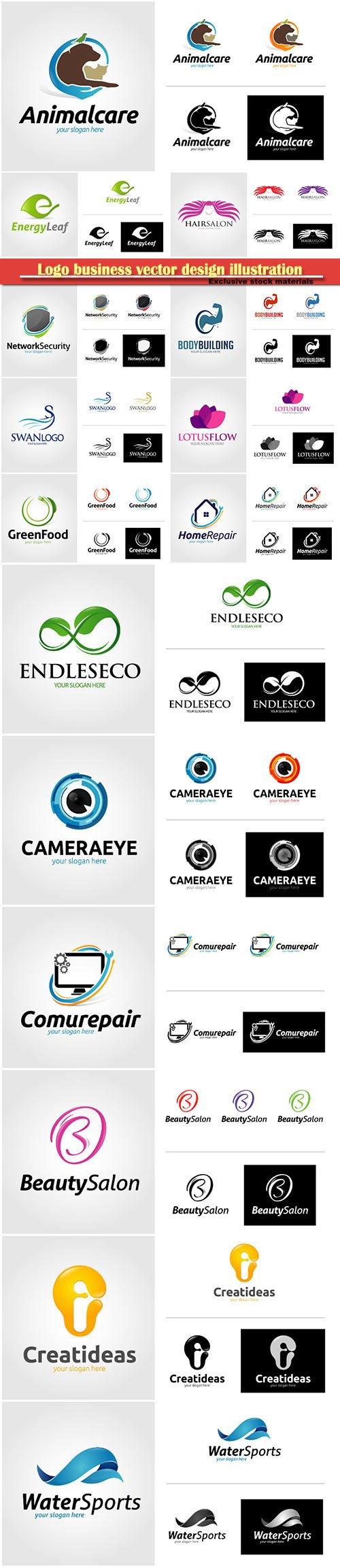 Logo business vector design illustration # 119