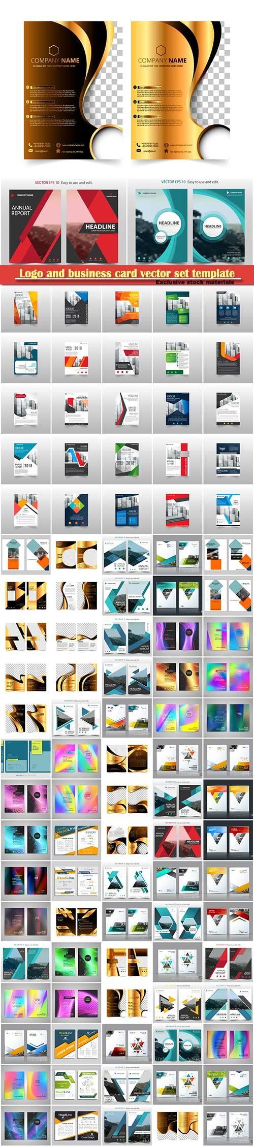 Logo and business card vector set template # 6