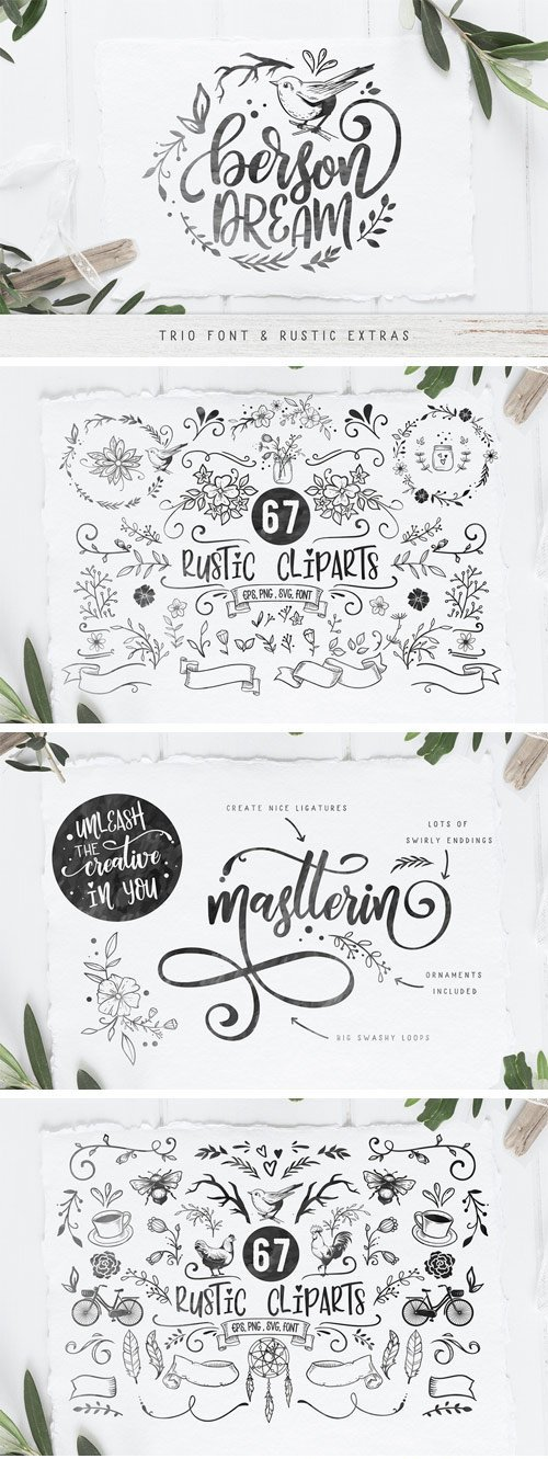 CM - Berson Dream Font TRIO and Extras 2663907