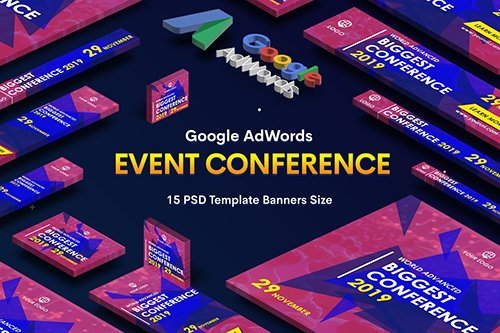 Event Conference Banners Ad PSD