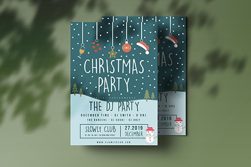 Christmas Party Vector Flyer