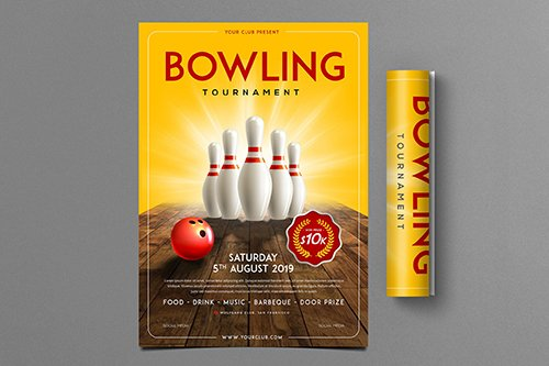 Bowling Tournament PSD Flyer