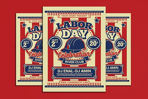 Labor Day PSD Flyer