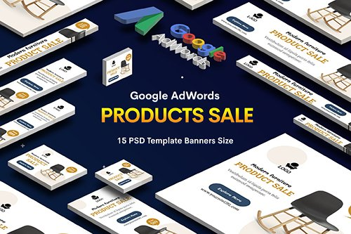 Products Sale PSD Banners Ad