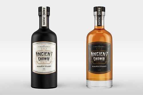 Whiskey Bottle PSD Mock-Up