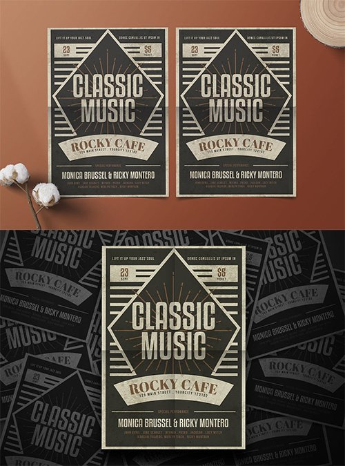 Classic Music PSD and AI Flyer
