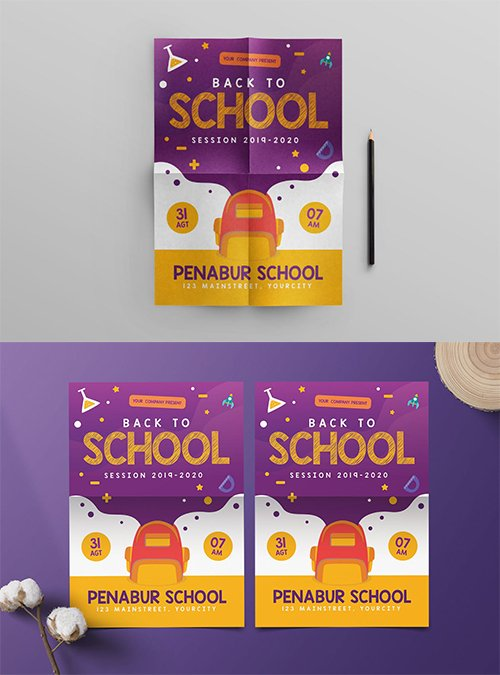 Back to School PSD and AI Flyer