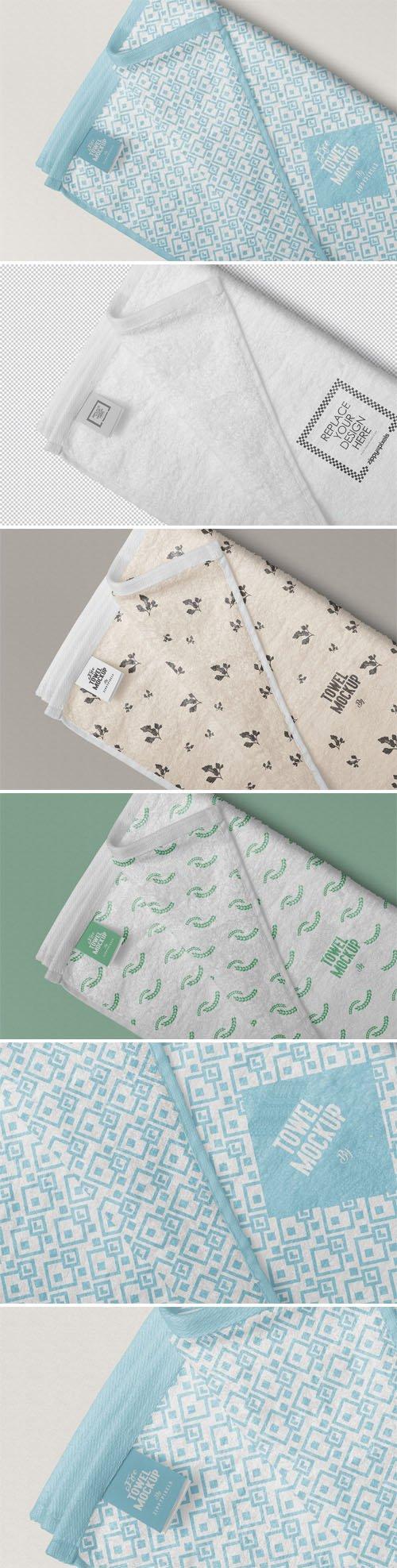 Elegant Towel PSD Mockup
