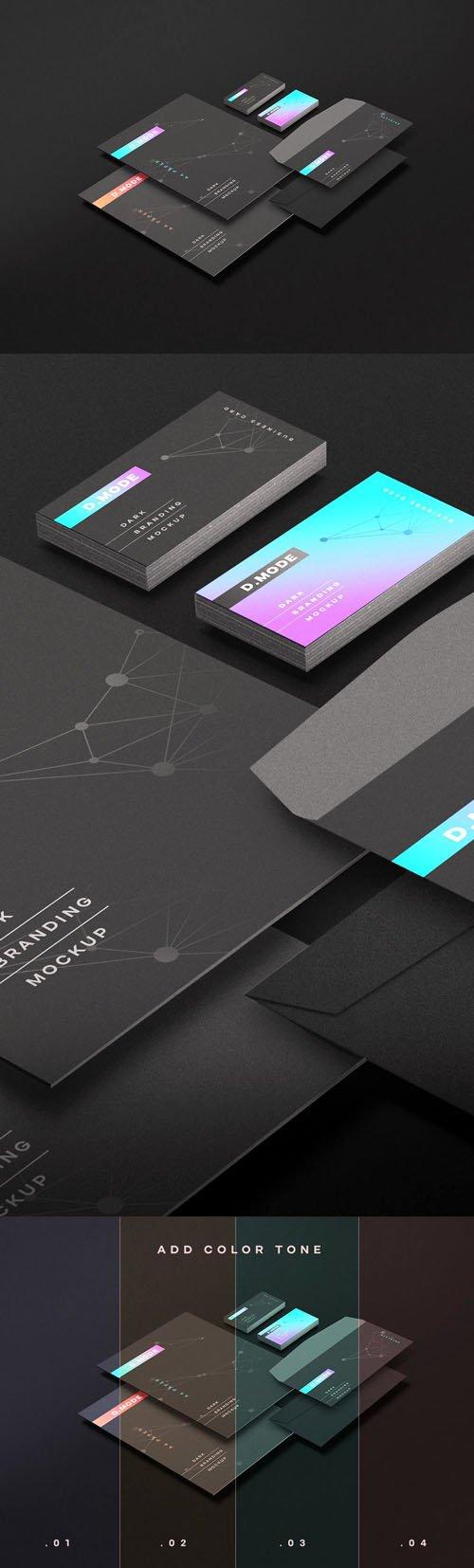 Dark Branding PSD Mockups