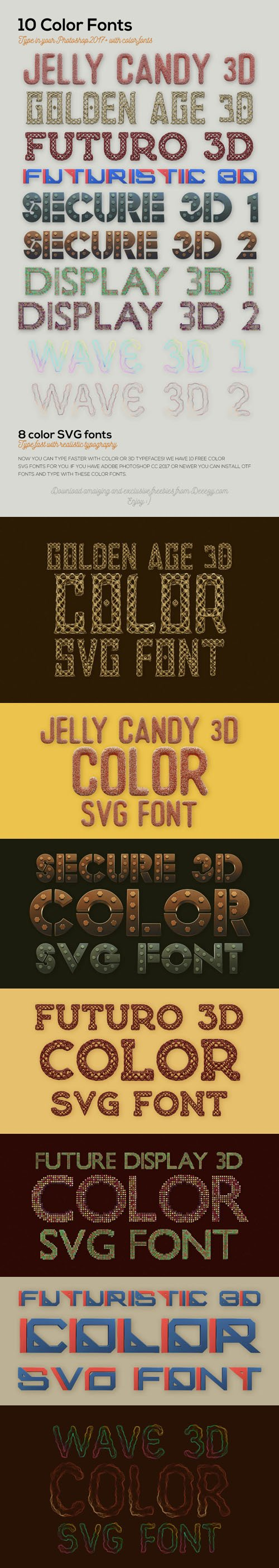 10 Color SVG Fonts for your Creative Projects