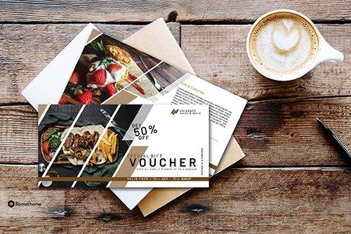 Hotel & Resto Gift PSD Voucher Vol. 1