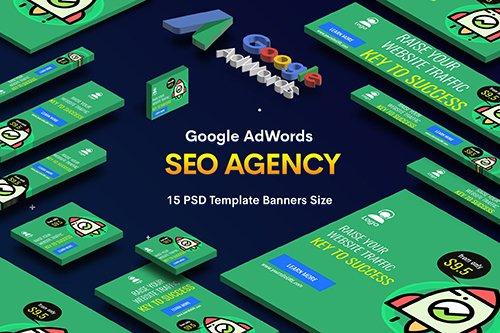SEO, Marketing Agency PSD Banners Ad