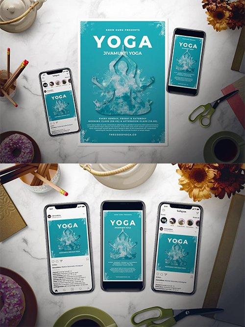 Zen Yoga PSD and AI Flyer Set