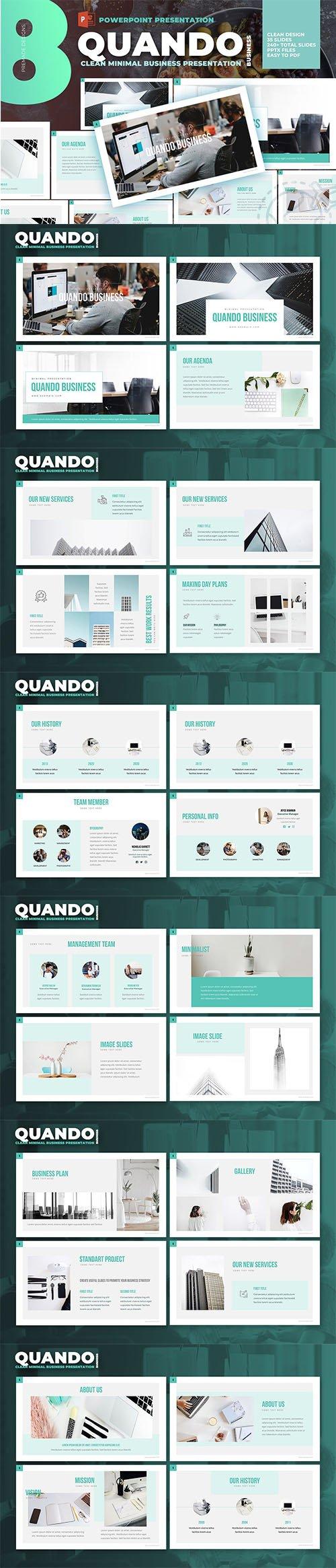 Quando - Clean and Minimal Presentation PPTX Template